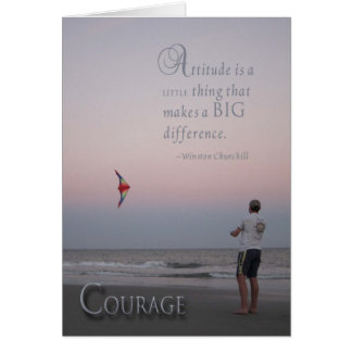 Courage - cancer encouragement card