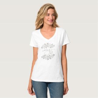 Courage Dear Heart Floral Wreath Women's T-shirt