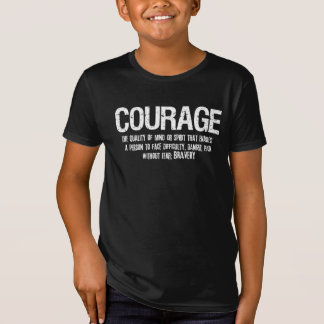 COURAGE Defintion Inspired Distressed Tee