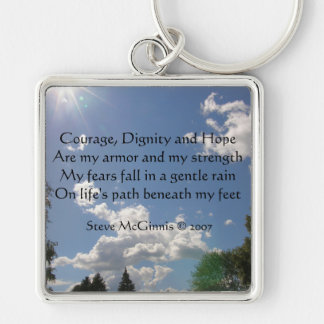 Courage, Dignity and Hope Premium Square Keychain