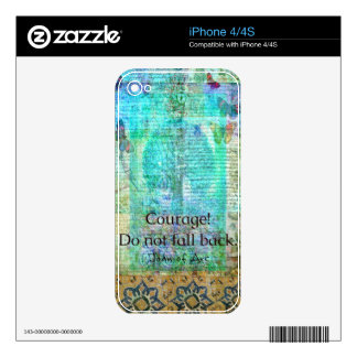 Courage Do not fall back JOAN OF ARC quote iPhone 4S Decals