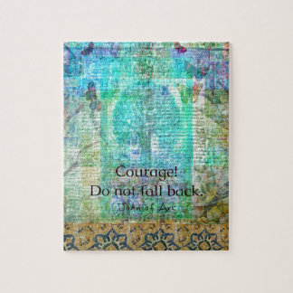 Courage Do not fall back JOAN OF ARC quote Jigsaw Puzzle
