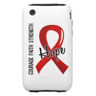 Courage Faith Hope 5 AIDS Tough iPhone 3 Case