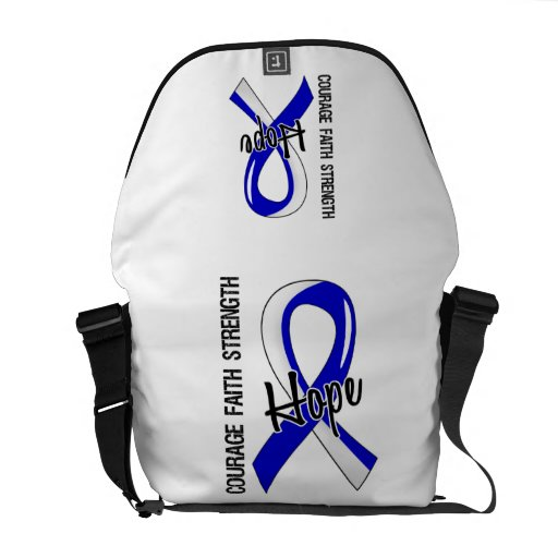 Courage Faith Hope 5 ALS Courier Bag