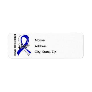 Courage Faith Hope 5 ALS Label