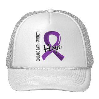 Courage Faith Hope 5 Alzheimer's Disease Trucker Hat