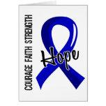 Courage Faith Hope 5 Ankylosing Spondylitis Greeting Card