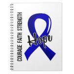 Courage Faith Hope 5 Ankylosing Spondylitis Spiral Notebooks
