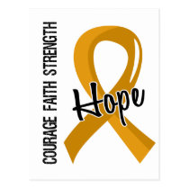 Courage Faith Hope 5 Appendix Cancer Postcard