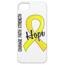 Courage Faith Hope 5 Bladder Cancer iPhone SE/5/5s Case