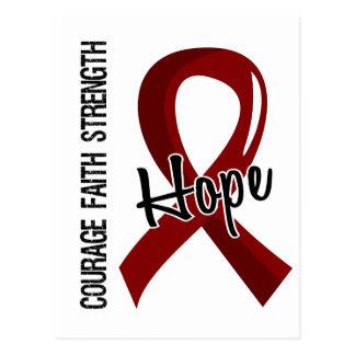 Courage Faith Hope 5 Brain Aneurysm Postcard