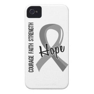 Courage Faith Hope 5 Brain Cancer Case-Mate iPhone 4 Case