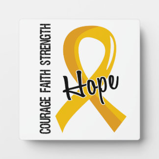 Courage Faith Hope 5 Childhood Cancer Display Plaque