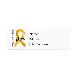 Courage Faith Hope 5 Childhood Cancer Label