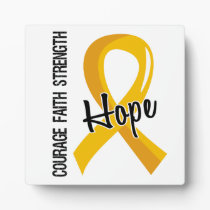 Courage Faith Hope 5 Childhood Cancer Plaque