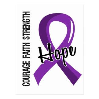 Courage Faith Hope 5 Crohn's Disease Postcard