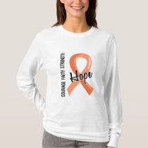 Courage Faith Hope 5 Endometrial Cancer T-Shirt