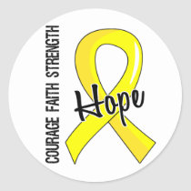 Courage Faith Hope 5 Endometriosis Classic Round Sticker