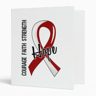 Courage Faith Hope 5 Head Neck Cancer Binders