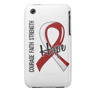 Courage Faith Hope 5 Head Neck Cancer iPhone 3 Cover
