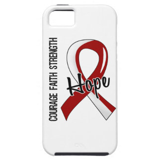 Courage Faith Hope 5 Head Neck Cancer iPhone SE/5/5s Case