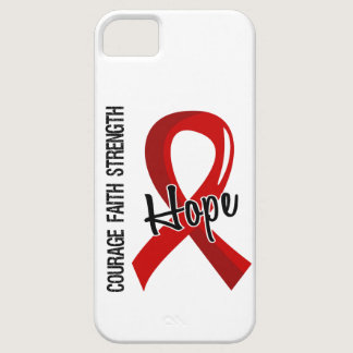 Courage Faith Hope 5 Heart Disease iPhone SE/5/5s Case