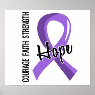 Courage Faith Hope 5 Hodgkin s Lymphoma Posters