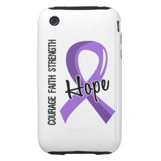 Courage Faith Hope 5 Hodgkin's Lymphoma iPhone 3 Tough Case