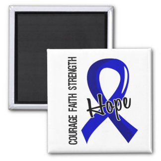 Courage Faith Hope 5 Huntington's Disease 2 Inch Square Magnet