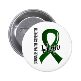Courage Faith Hope 5 Liver Disease 2 Inch Round Button