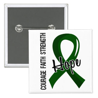 Courage Faith Hope 5 Liver Disease 2 Inch Square Button