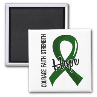 Courage Faith Hope 5 Liver Disease 2 Inch Square Magnet