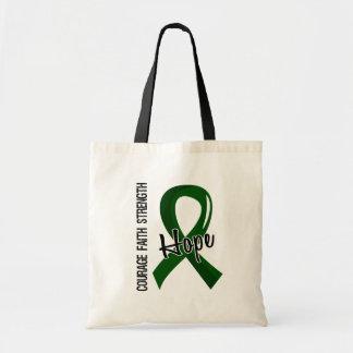 Courage Faith Hope 5 Liver Disease Budget Tote Bag
