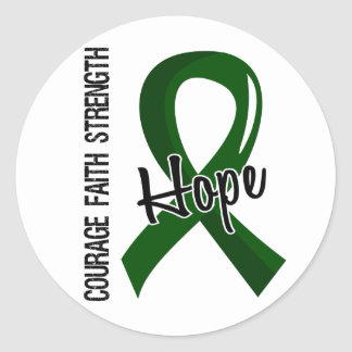 Courage Faith Hope 5 Liver Disease Classic Round Sticker