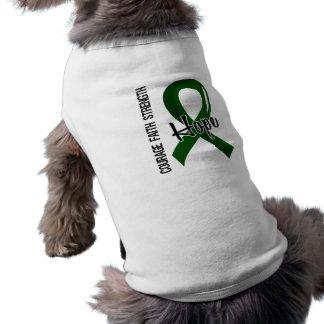 Courage Faith Hope 5 Liver Disease Doggie Tee Shirt