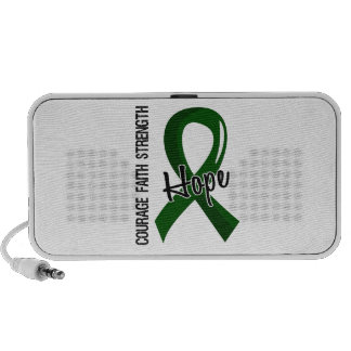 Courage Faith Hope 5 Liver Disease Notebook Speakers