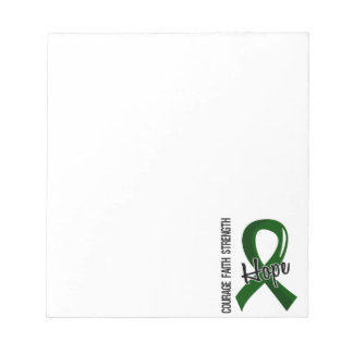 Courage Faith Hope 5 Liver Disease Notepad