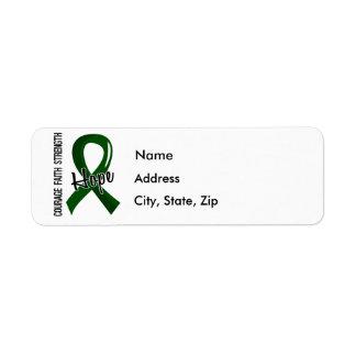 Courage Faith Hope 5 Liver Disease Return Address Label