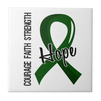 Courage Faith Hope 5 Liver Disease Small Square Tile