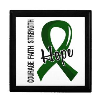 Courage Faith Hope 5 Liver Disease Trinket Box