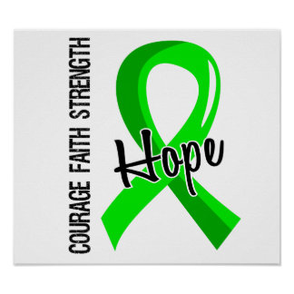 Courage Faith Hope 5 Lyme Disease Poster