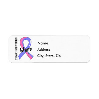 Courage Faith Hope 5 Male Breast Cancer Label
