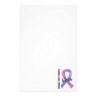 Courage Faith Hope 5 Male Breast Cancer Custom Stationery