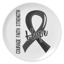 Courage Faith Hope 5 Melanoma Plate