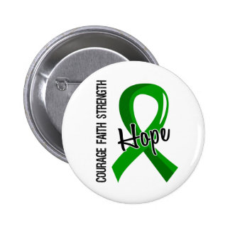 Courage Faith Hope 5 Mental Health Pinback Buttons
