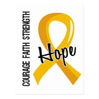 Courage Faith Hope 5 Neuroblastoma Postcard