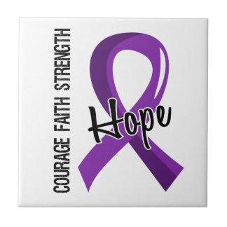 Courage Faith Hope 5 Pancreatic Cancer Tile