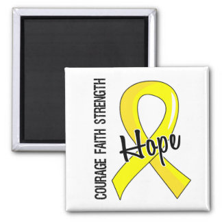 Courage Faith Hope 5 Sarcoma 2 Inch Square Magnet