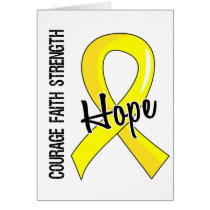 Courage Faith Hope 5 Testicular Cancer Card