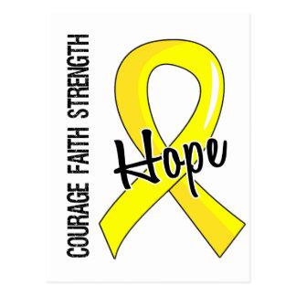 Courage Faith Hope 5 Testicular Cancer Postcard